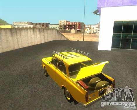 Москвич 408 для GTA San Andreas вид сзади слева