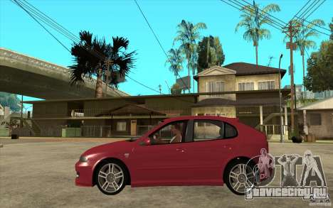 Seat Leon Cupra - Stock для GTA San Andreas вид слева