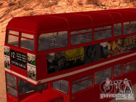 AEC RouteMaster RML для GTA San Andreas вид сверху