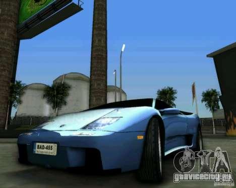 Lamborghini Diablo для GTA Vice City вид справа