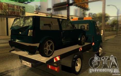 ГАЗель 3302-14 Эвакуатор для GTA San Andreas вид сзади слева