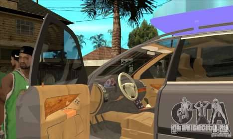 Volvo XC90 Sport для GTA San Andreas вид изнутри