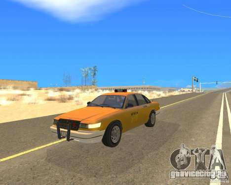 Taxi from GTAIV для GTA San Andreas вид сзади слева