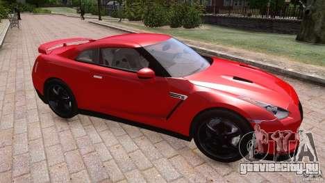 Nissan GTR R35 v1.0 для GTA 4 вид изнутри