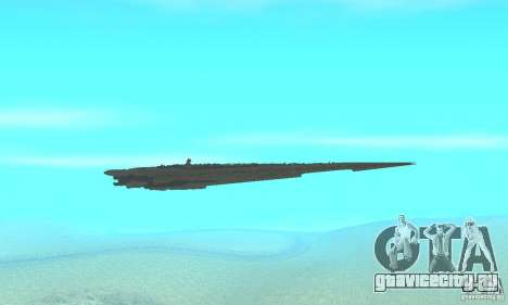 Executor Class Stardestroyer для GTA San Andreas вид изнутри