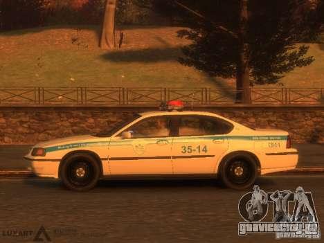 Chevrolet Impala Police 2003 для GTA 4 вид сзади слева