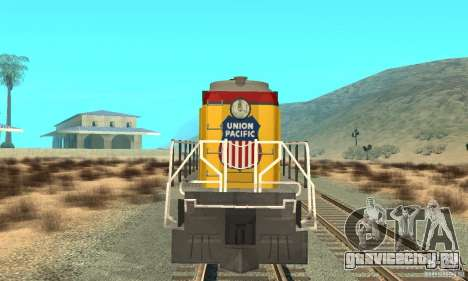 Тепловоз RS3 Union Pacific для GTA San Andreas вид слева