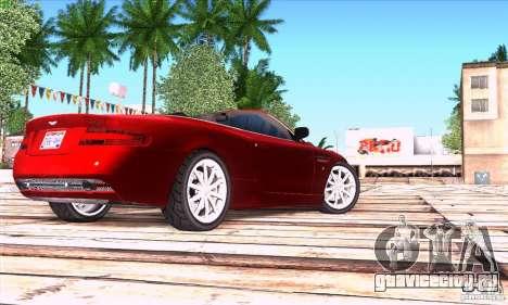 Aston Martin DB9 для GTA San Andreas вид сзади слева