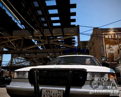 Russian Police Cruiser для GTA 4 вид сзади