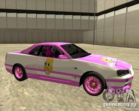Nissan Skyline R34 Mr.SpaT для GTA San Andreas