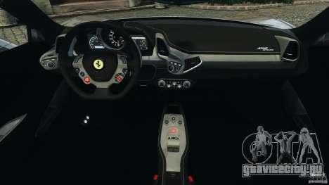 Ferrari 458 Spider 2013 v1.01 для GTA 4 вид сзади