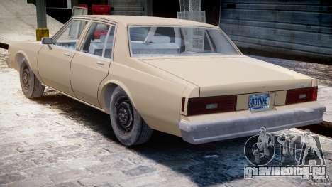 Chevrolet Impala 1983 для GTA 4 вид справа