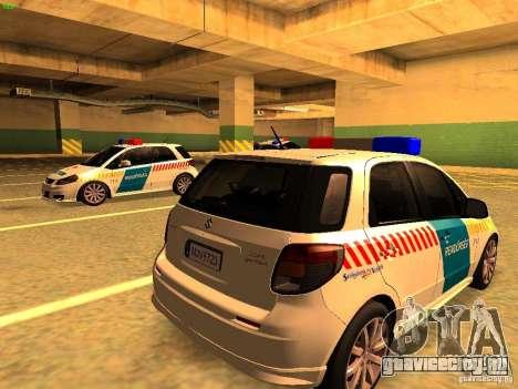 Suzuki SX-4 Hungary Police для GTA San Andreas вид слева