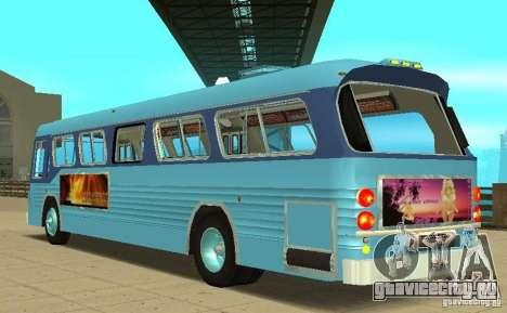 GMC Fishbowl City Bus 1976 для GTA San Andreas вид сзади слева