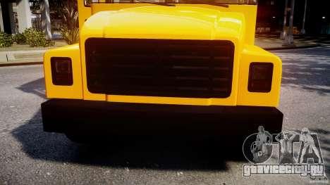 School Bus [Beta] для GTA 4 вид сбоку