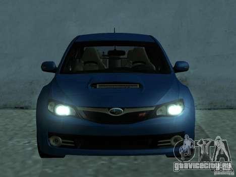 Subaru Imreza WRX для GTA San Andreas вид слева