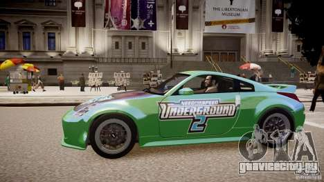 Nissan 350Z Underground 2 Style для GTA 4 вид слева