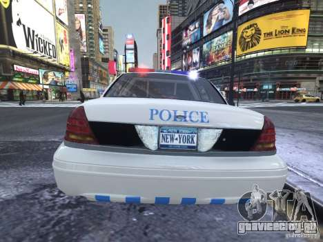 Ford Crown Victoria Homeland Security для GTA 4 вид справа