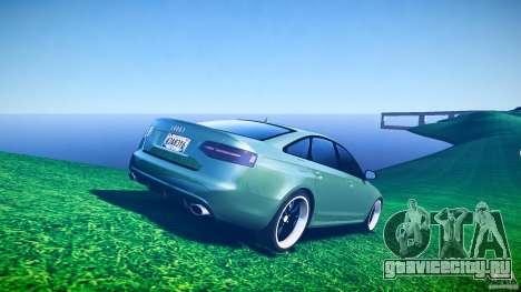 Audi RS6 2009 для GTA 4 вид снизу