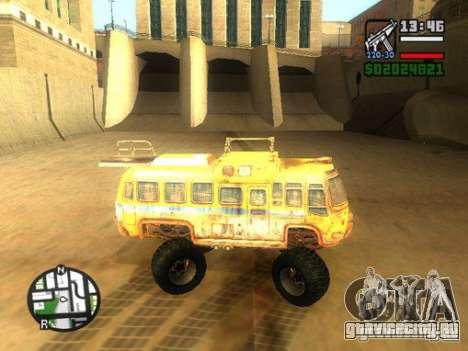 Bullet Storm Bus для GTA San Andreas вид слева