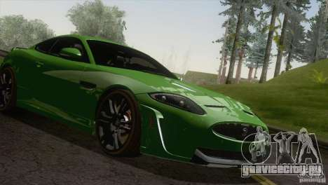 Jaguar XKR-S 2011 V1.0 для GTA San Andreas вид сзади