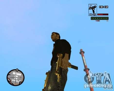 Micro Uzi Gold для GTA San Andreas третий скриншот
