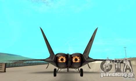 F-22 Starscream для GTA San Andreas вид изнутри