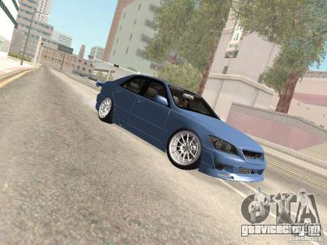 Lexus IS300 HellaFlush для GTA San Andreas вид сверху