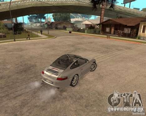 Porsche 911 TARGA для GTA San Andreas вид изнутри