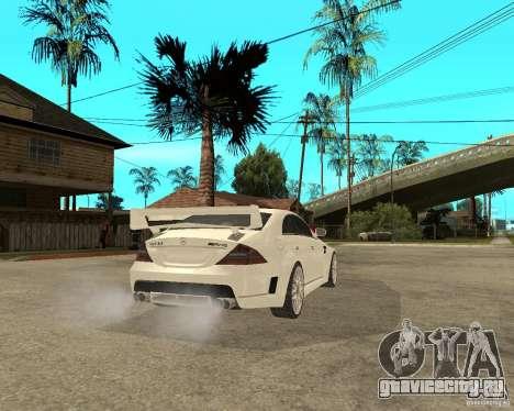 MERCEDES CLS 63 AMG TUNING для GTA San Andreas вид сзади слева