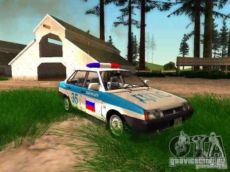 ВАЗ 2109 Полиция для GTA San Andreas салон