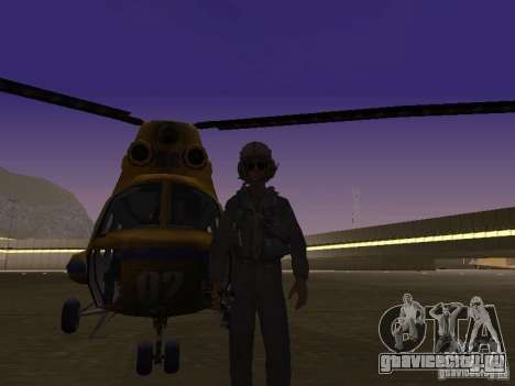 МИ-2 Милицейский для GTA San Andreas вид слева