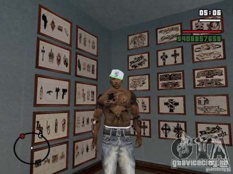 Новы Татуировки для GTA San Andreas