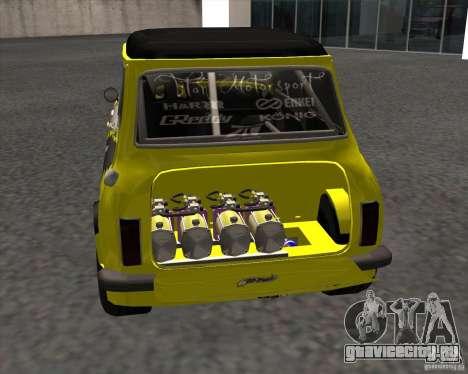 Mini Cooper S Titan Motorsports для GTA San Andreas вид сзади слева