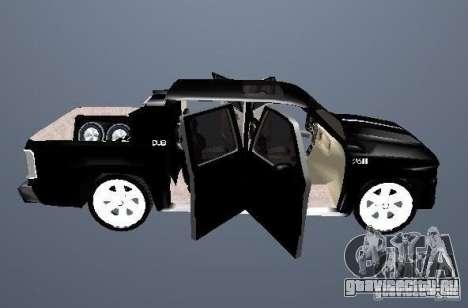Chevrolet Suburban для GTA San Andreas вид изнутри