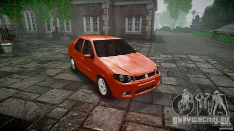 Fiat Albea Sole для GTA 4 вид сзади