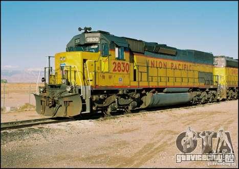 Локомотив SD 40 Union Pacific для GTA San Andreas вид справа