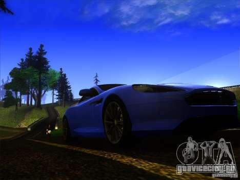 Aston Martin Virage 2011 Final для GTA San Andreas вид изнутри