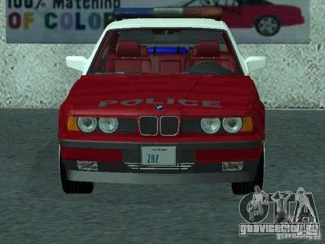 BMW 535i E34 Police для GTA San Andreas вид слева