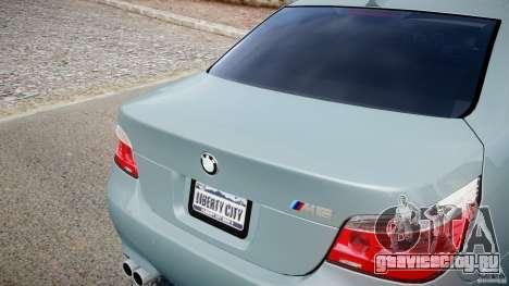 BMW M5 E60 для GTA 4 вид сбоку