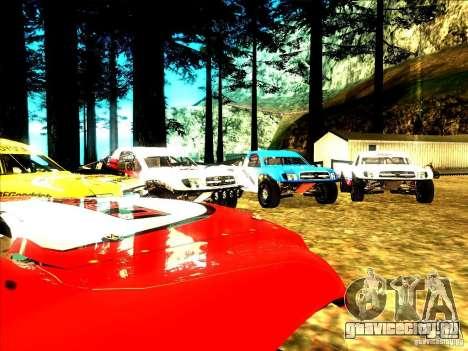 Toyota Tundra Rally для GTA San Andreas вид сверху