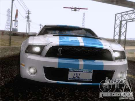Ford Shelby Mustang GT500 2010 для GTA San Andreas салон