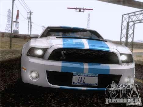 Ford Shelby Mustang GT500 2010 для GTA San Andreas салон