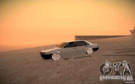 ВАЗ 21099 LifeStyle Tuning для GTA San Andreas вид сзади