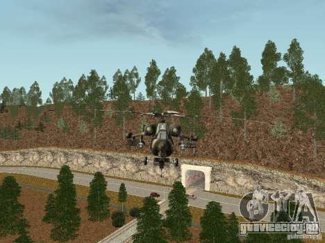 MИ 28 HAVOC для GTA San Andreas вид сзади слева