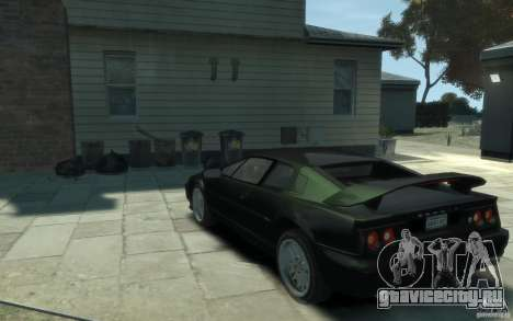Lotus Esprit V8 для GTA 4 вид сзади слева