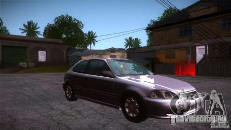 Honda Civic Tuneable для GTA San Andreas вид сзади