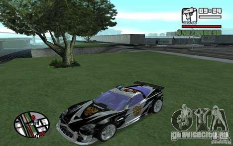 Cross Corvette C6R Русский для GTA San Andreas вид сзади