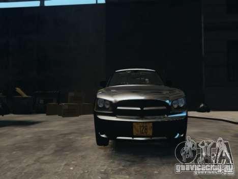 Dodge Charger Slicktop 2010 для GTA 4 вид сзади