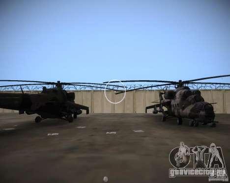 Ми-35 для GTA Vice City вид сбоку